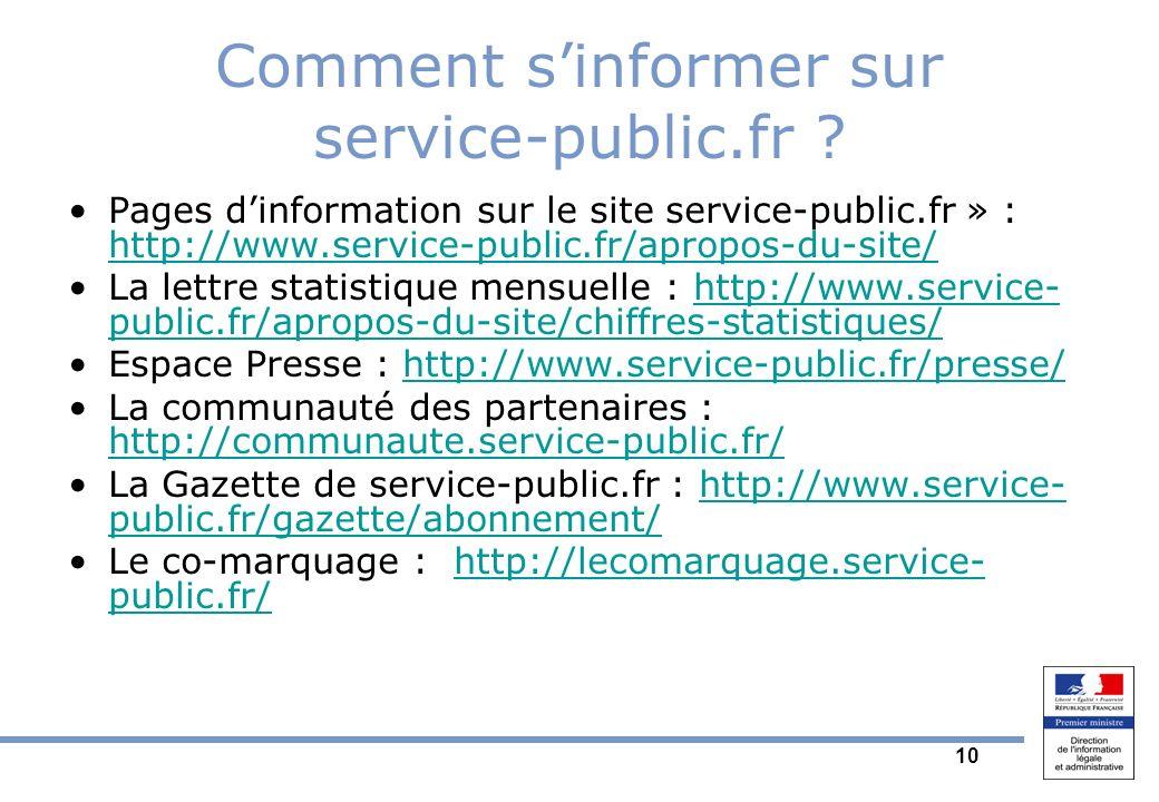 10 Comment sinformer sur service-public.fr .