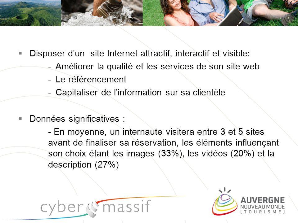pro.auvergne-tourisme.info Disposer dun site Internet attractif, interactif et visible: -Améliorer la qualité et les services de son site web -Le réfé