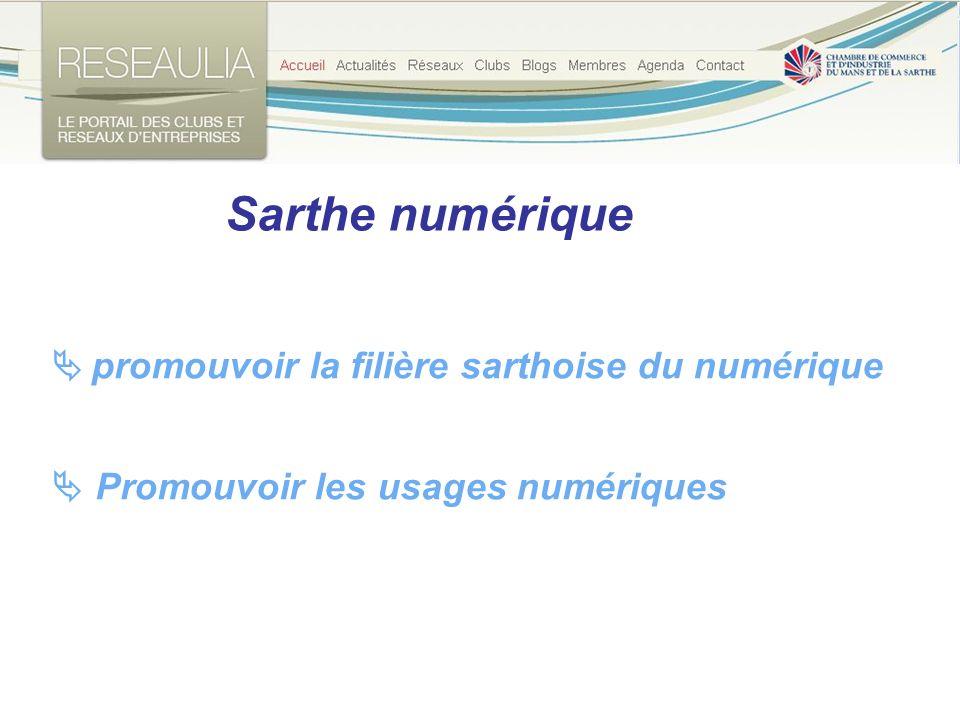 Sarthe numérique Promouvoir les usages numériques promouvoir la filière sarthoise du numérique