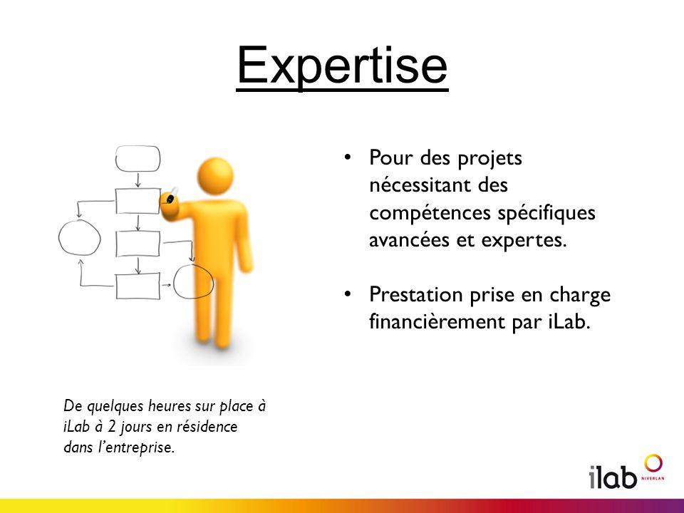 Expertise Pour des projets nécessitant des compétences spécifiques avancées et expertes.