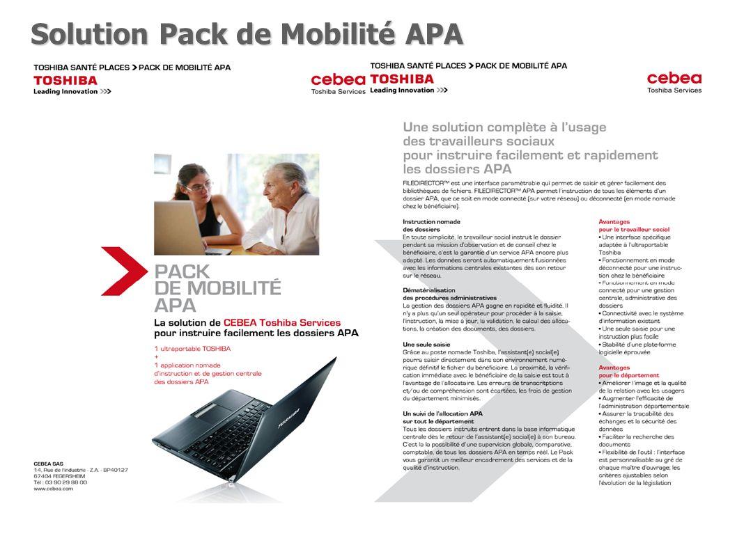 Solution Pack de Mobilité APA