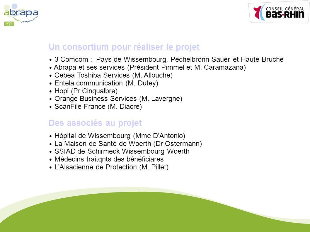 Un consortium pour réaliser le projet 3 Comcom : Pays de Wissembourg, Péchelbronn-Sauer et Haute-Bruche Abrapa et ses services (Président Pimmel et M.