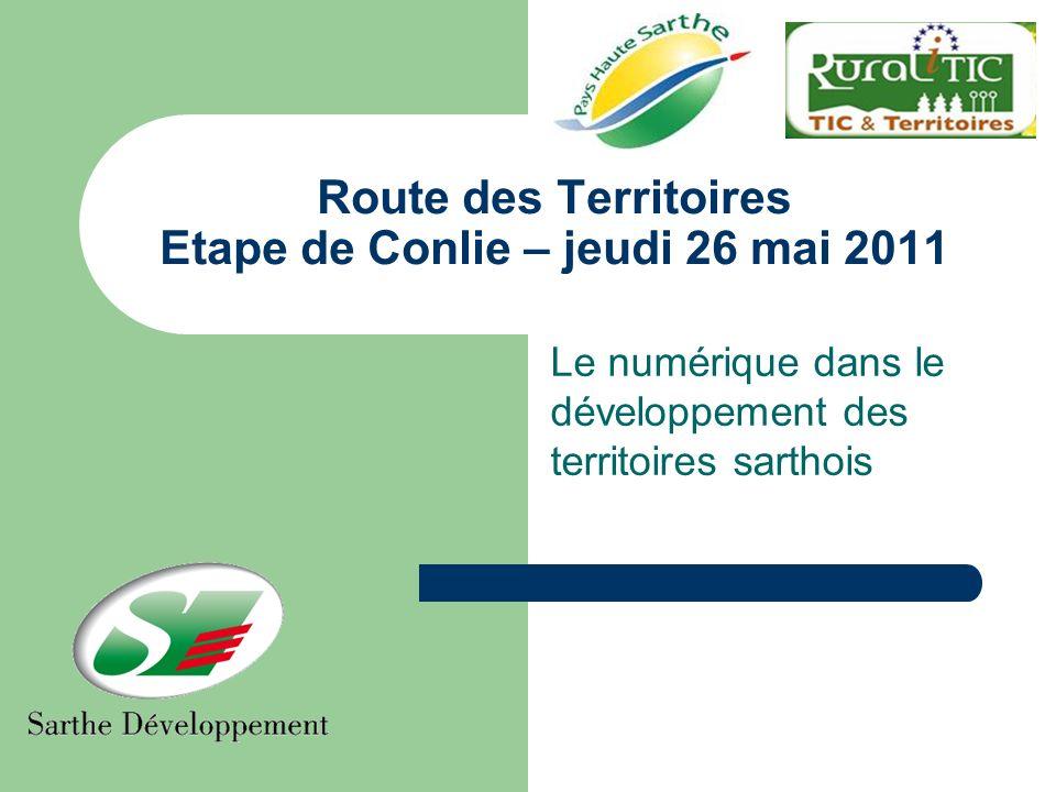 Route des Territoires Etape de Conlie – jeudi 26 mai 2011 Le numérique dans le développement des territoires sarthois