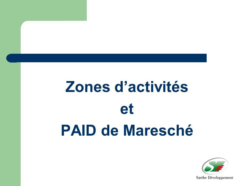 Zones dactivités et PAID de Maresché