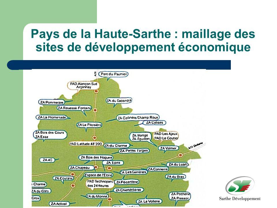 Pays de la Haute-Sarthe : maillage des sites de développement économique