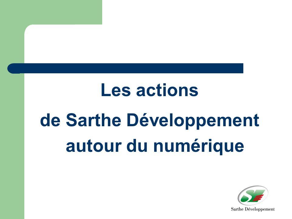 Les actions de Sarthe Développement autour du numérique