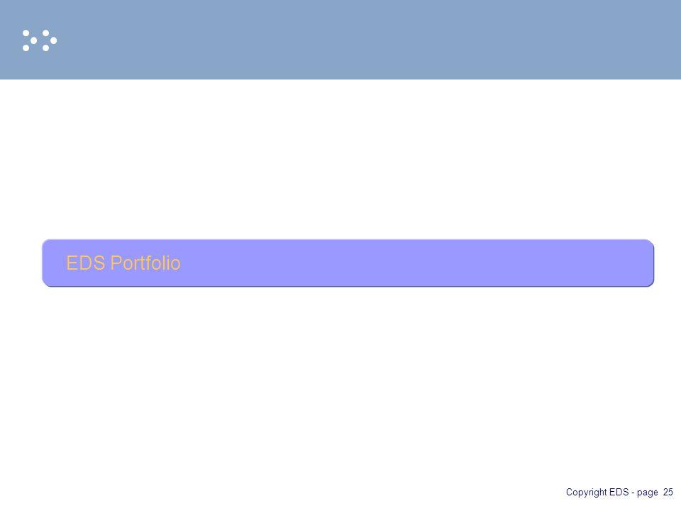 Copyright EDS - page 25 EDS Portfolio