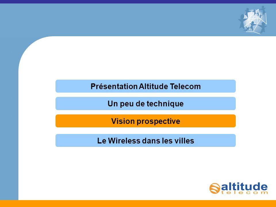 Présentation Altitude Telecom Un peu de technique Vision prospective Le Wireless dans les villes