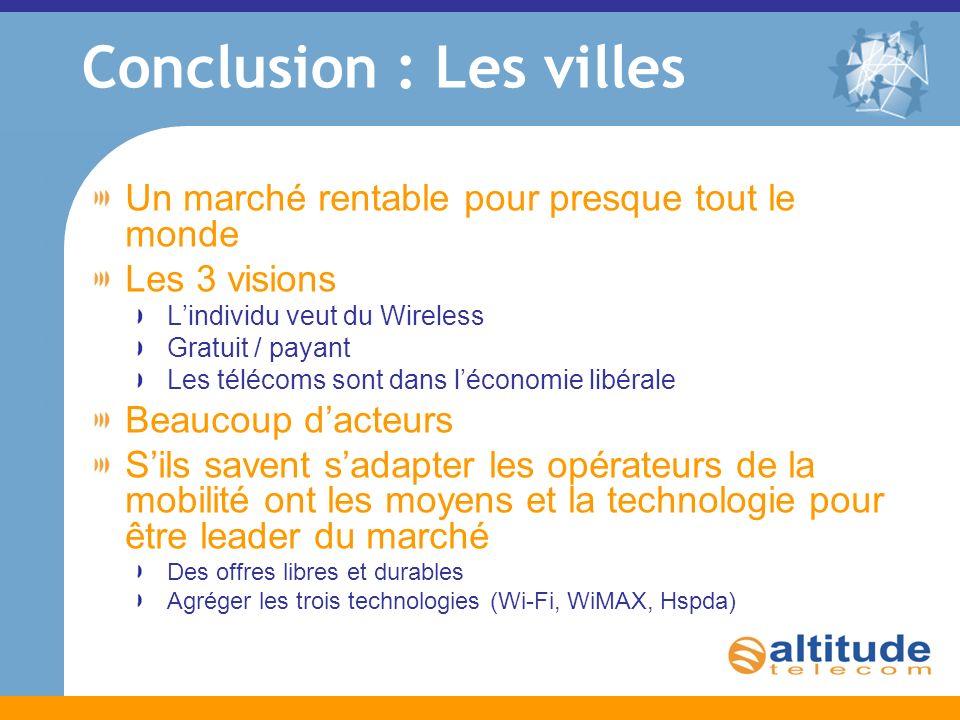 Panorama du marché A votre disposition www.altitudetelecom.fr