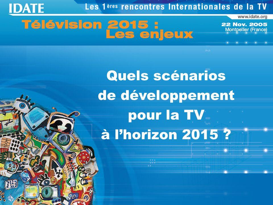 Quels scénarios de développement pour la TV à lhorizon 2015