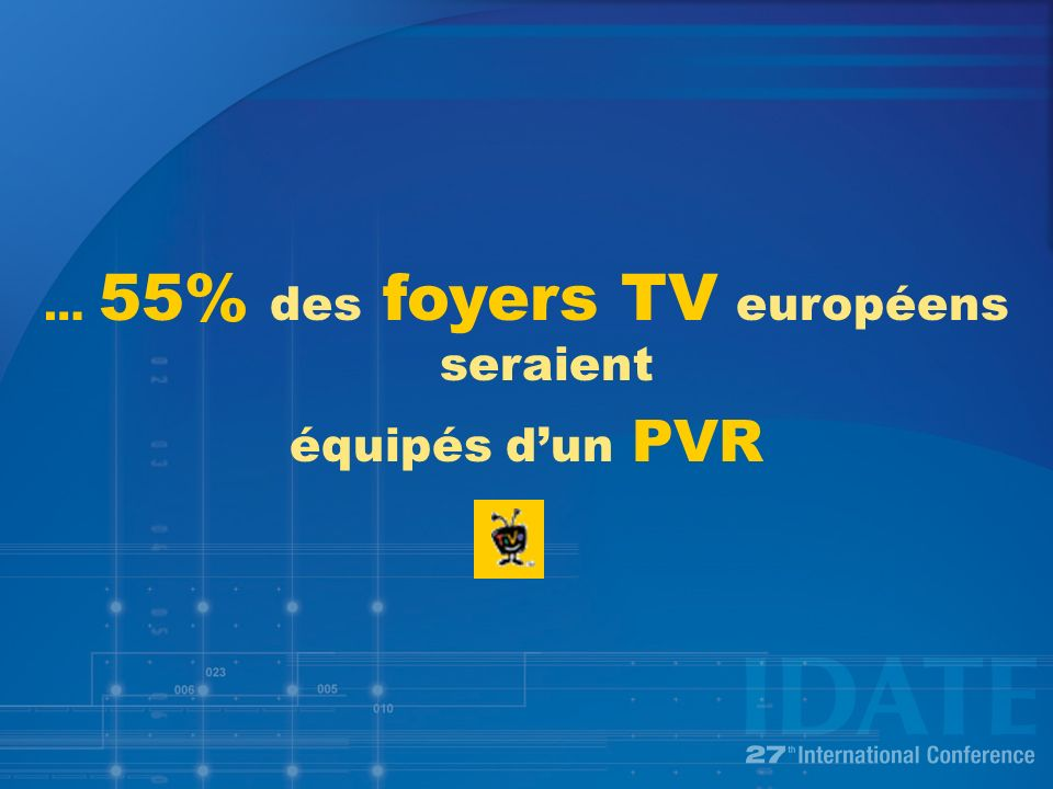 … 55% des foyers TV européens seraient équipés dun PVR