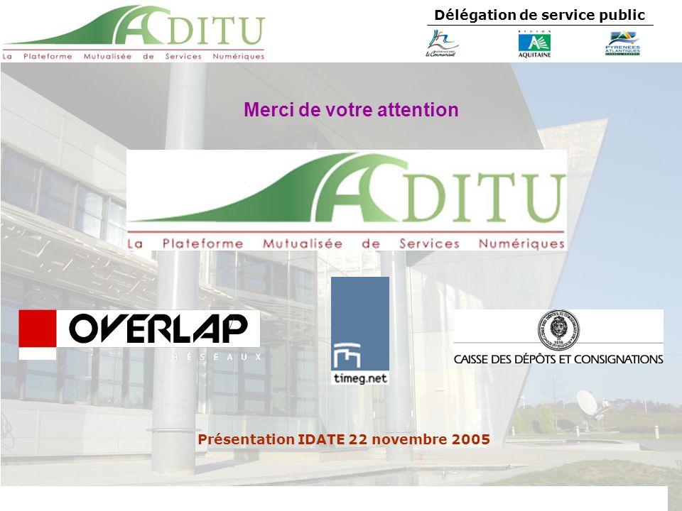 Délégation de service public Merci de votre attention Présentation IDATE 22 novembre 2005