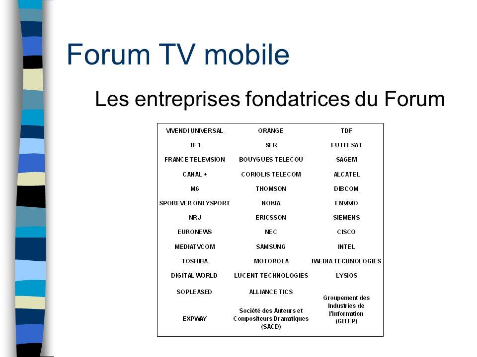Forum TV mobile Les entreprises fondatrices du Forum