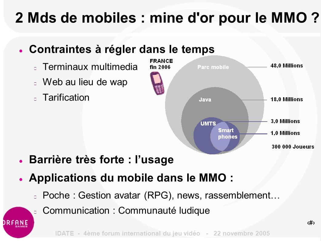 5 2 Mds de mobiles : mine d or pour le MMO .