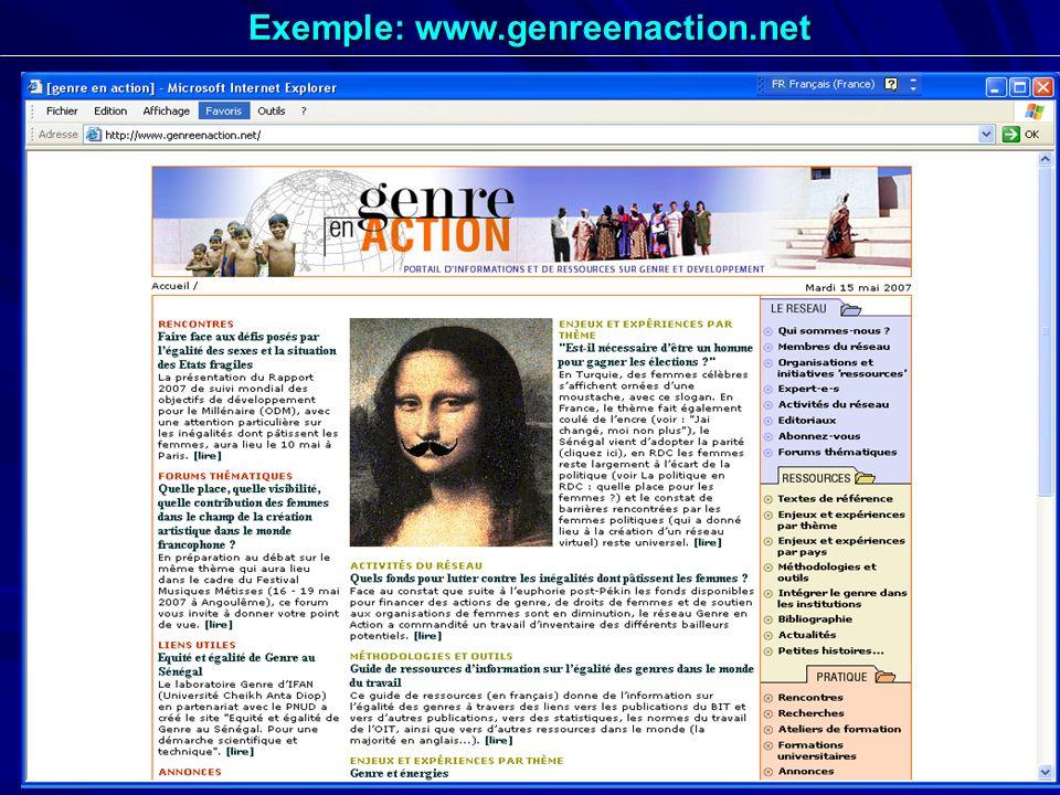 29 Exemple: www.genreenaction.net