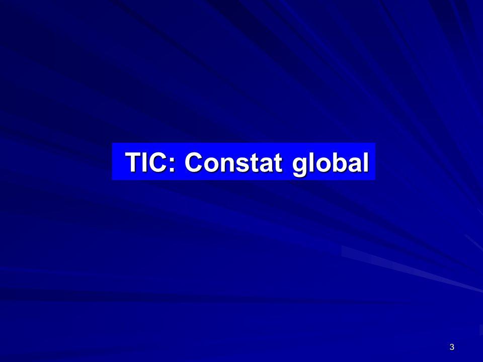 3 TIC: Constat global TIC: Constat global