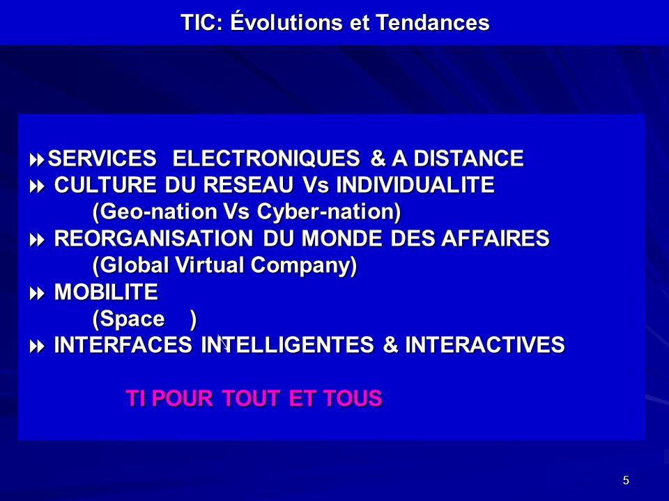 5 SERVICES ELECTRONIQUES & A DISTANCE SERVICES ELECTRONIQUES & A DISTANCE CULTURE DU RESEAU Vs INDIVIDUALITE CULTURE DU RESEAU Vs INDIVIDUALITE (Geo-n