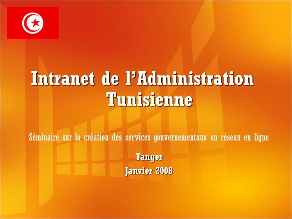 Intranet de lAdministration Tunisienne Tanger Janvier 2008 Séminaire sur la création des services gouvernementaux en réseau en ligne
