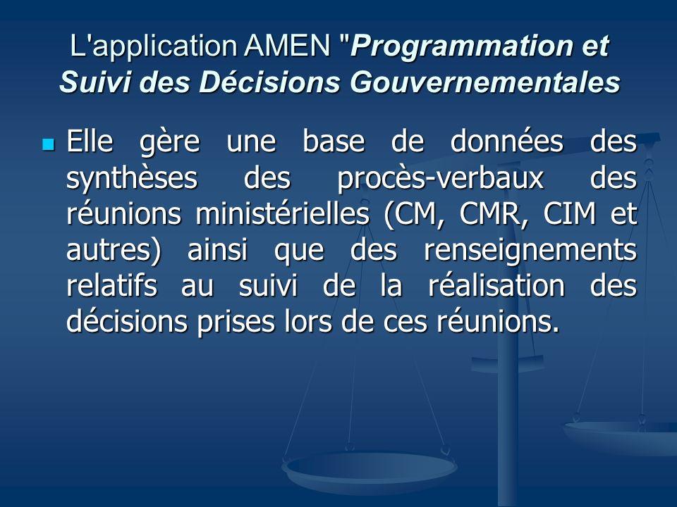 L'application AMEN