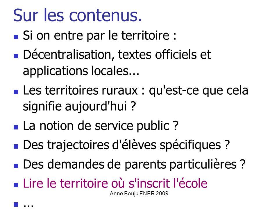 Anne Bouju FNER 2009 Sur les contenus.