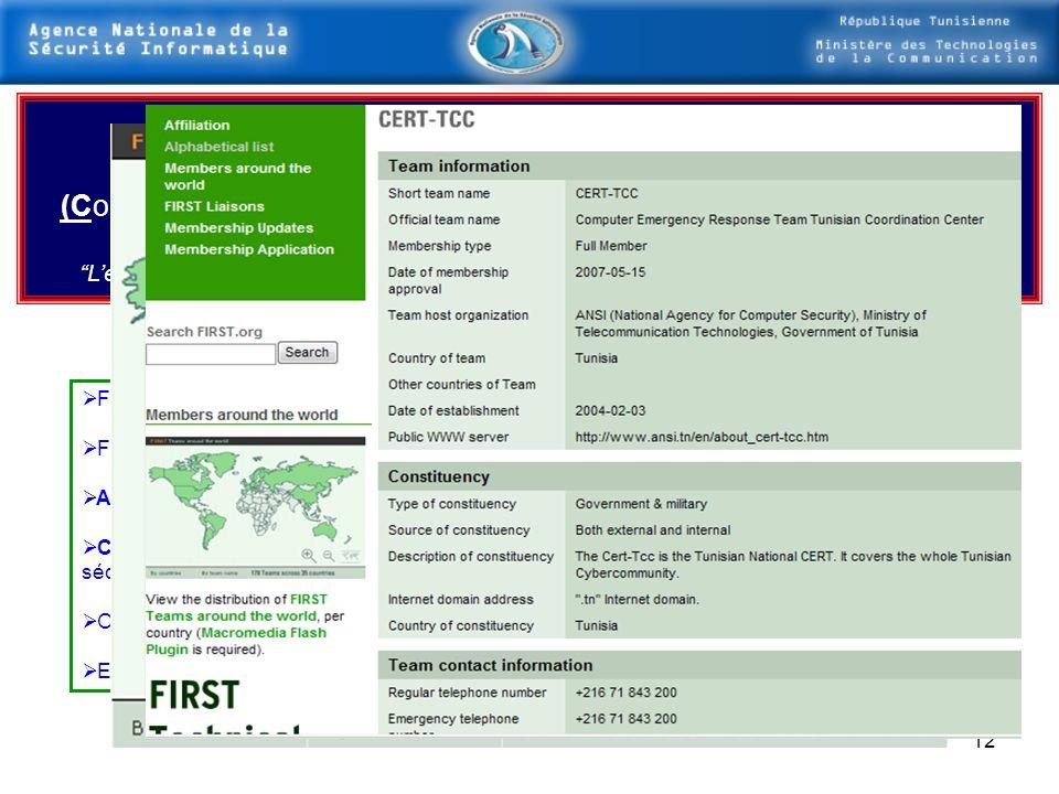 11 Présentation des Principales Actions du PLAN National dans le domaine de la sécurité des SI