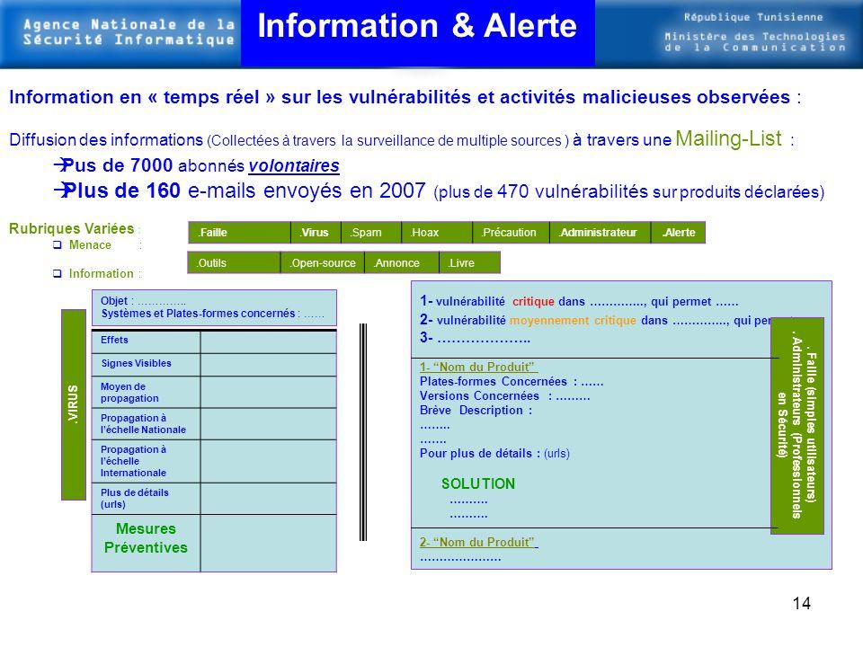 13 Information & Sensibilisation
