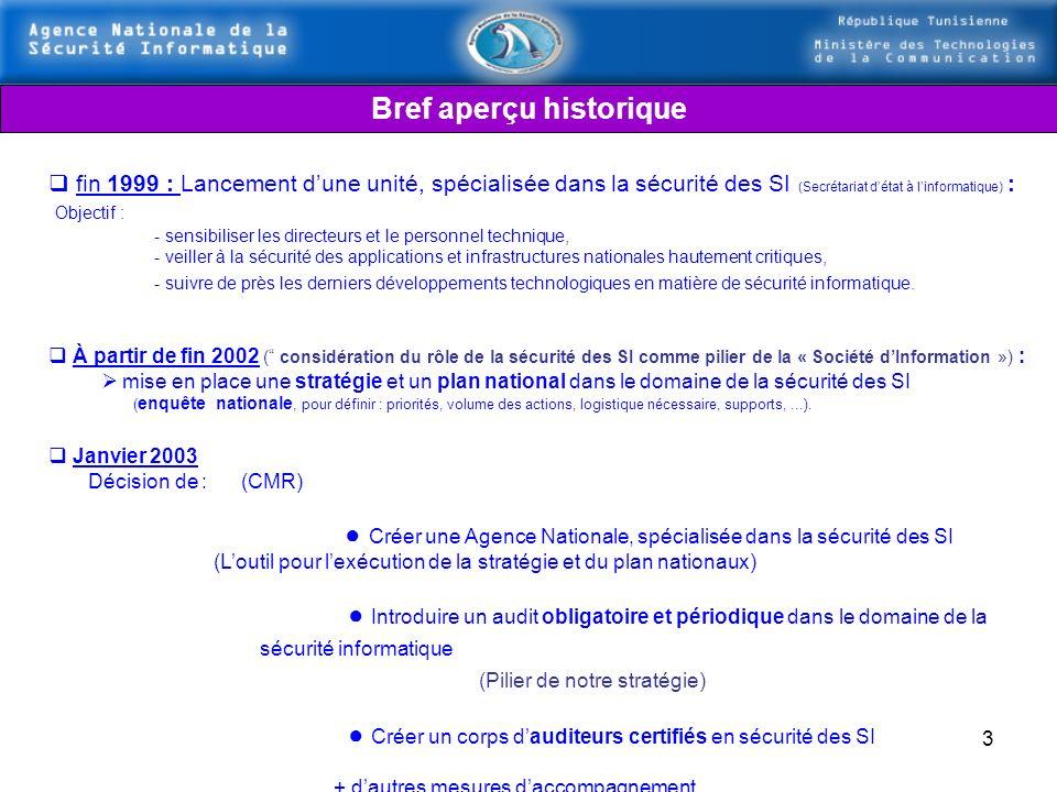 2 Ministère des Technologies de la Communication Agence Nationale de la Sécurité Informatique Stratégie nationale pour la Sécurité des Systèmes dInfor