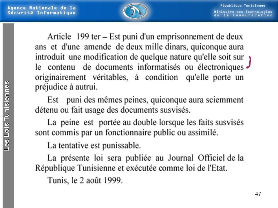 46 Les Lois Tunisiennes