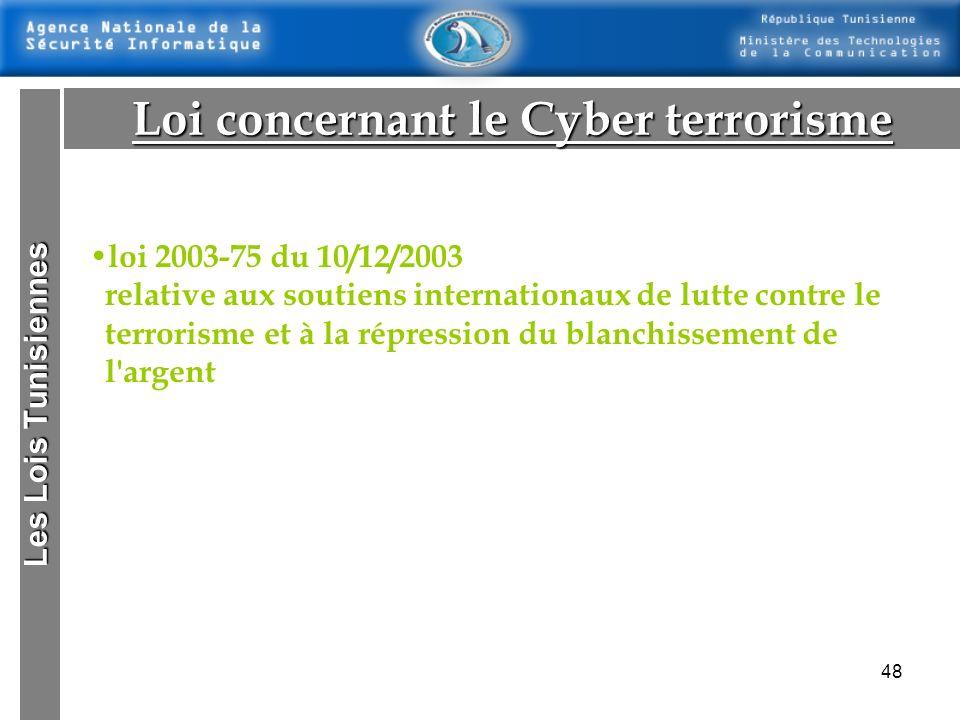 47 Les Lois Tunisiennes