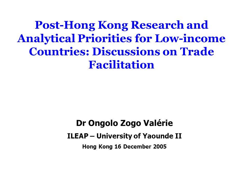 1.Les Enjeux des Négociations sur la FE pour les Pays en Développement 2.