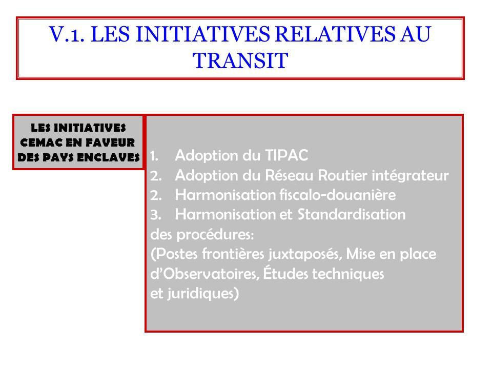 LES INITIATIVES CEMAC EN FAVEUR DES PAYS ENCLAVES 1.Adoption du TIPAC 2.Adoption du Réseau Routier intégrateur 2.Harmonisation fiscalo-douanière 3.Har