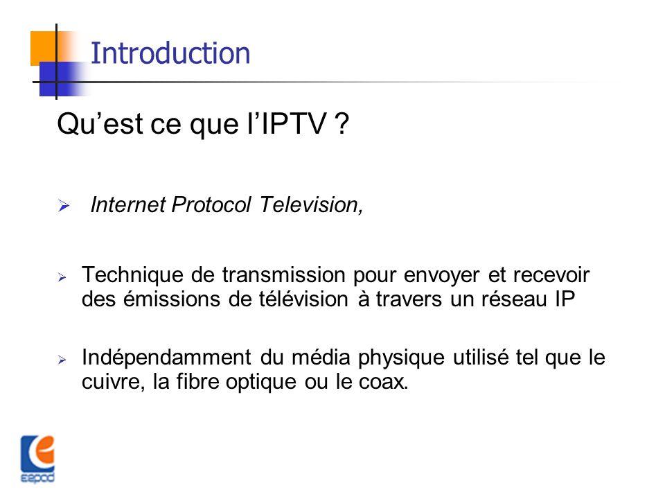 Introduction (Suite) Pour Quoi lIPTV.