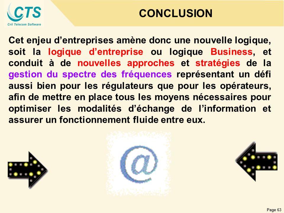 Page 63 CONCLUSION Cet enjeu dentreprises amène donc une nouvelle logique, soit la logique dentreprise ou logique Business, et conduit à de nouvelles