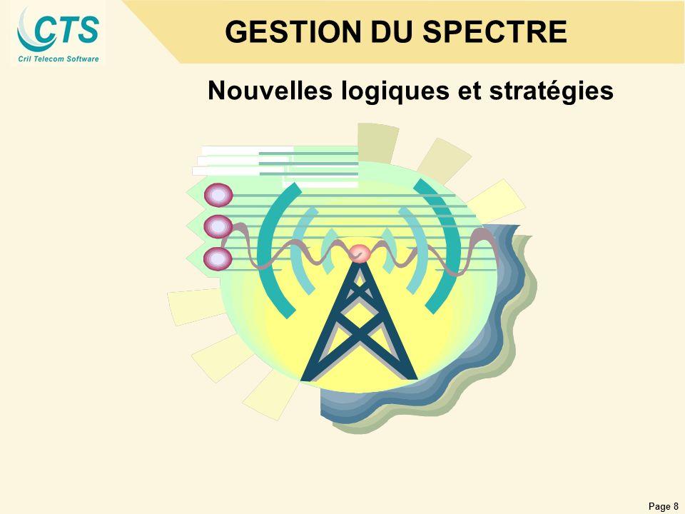 Page 19 Le contexte de la gestion du Spectre Le spectre représente une ressource limitée, laugmentation du trafic multi-réseaux nécessite désormais la mise en place de moyens stricts de gestion.