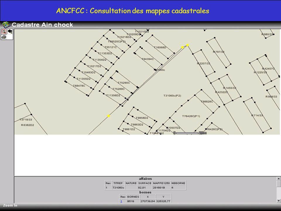 Azdine EL MOUNTASSIR BILLAH, DG Maroc Telecommerce : amountassir@maroctelecommerce.com 9 ANCFCC : Consultation des mappes cadastrales
