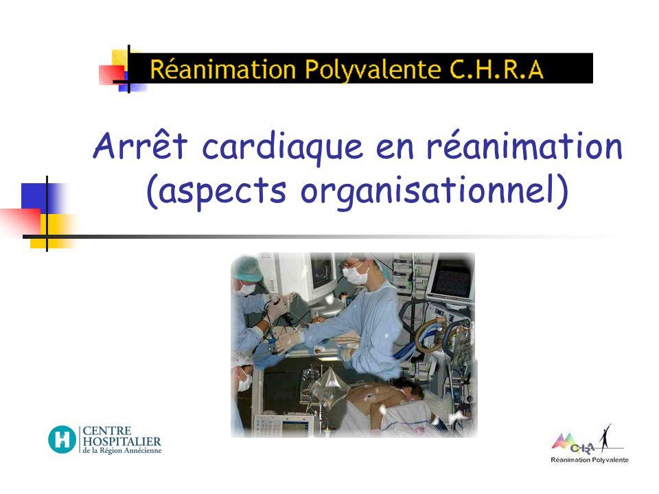 Arrêt cardiaque en réanimation (aspects organisationnel)