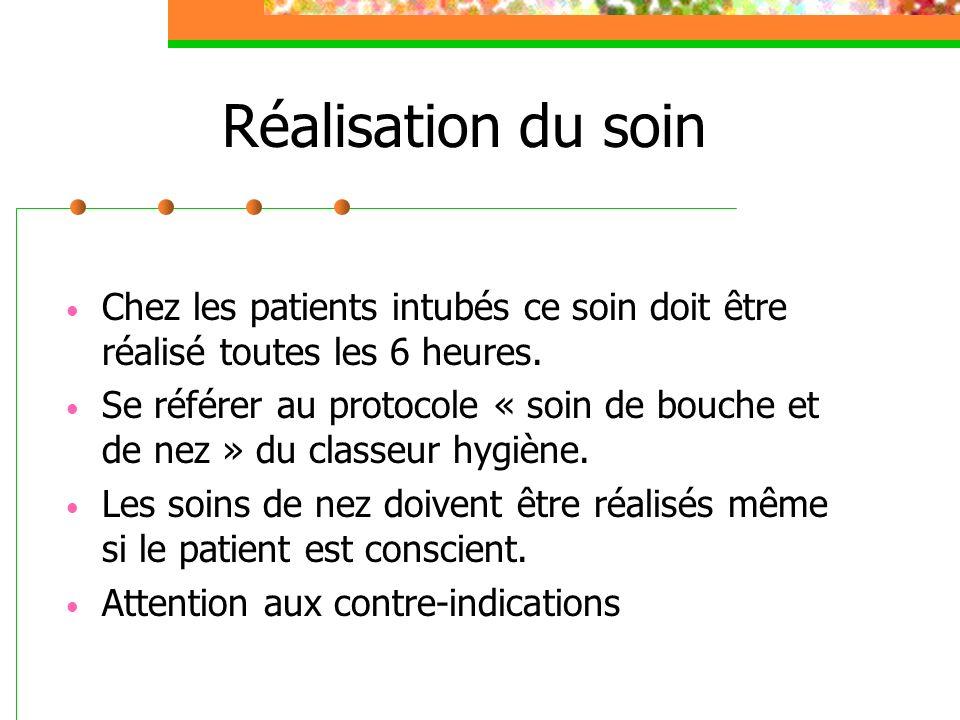 Conclusion Soin important pour le confort du patient et de sa famille.