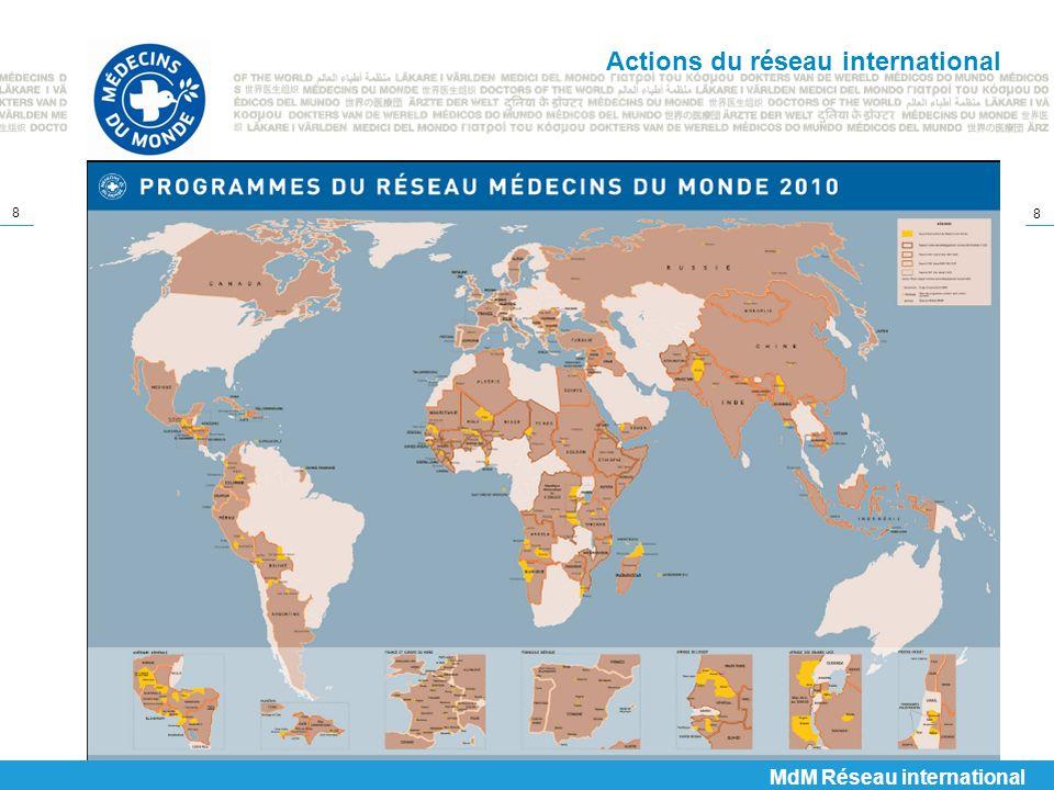 8 8 Actions du réseau international MdM Réseau international