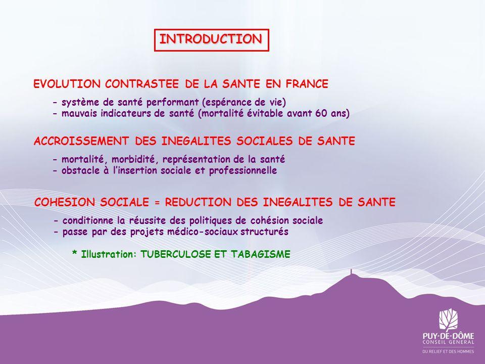 EVOLUTION CONTRASTEE DE LA SANTE EN FRANCE - système de santé performant (espérance de vie) - mauvais indicateurs de santé (mortalité évitable avant 6