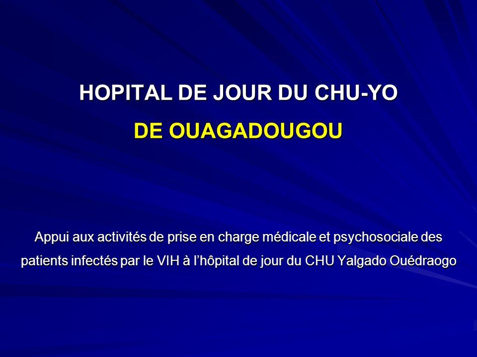 HOPITAL DE JOUR DU CHU-YO DE OUAGADOUGOU Appui aux activités de prise en charge médicale et psychosociale des patients infectés par le VIH à lhôpital