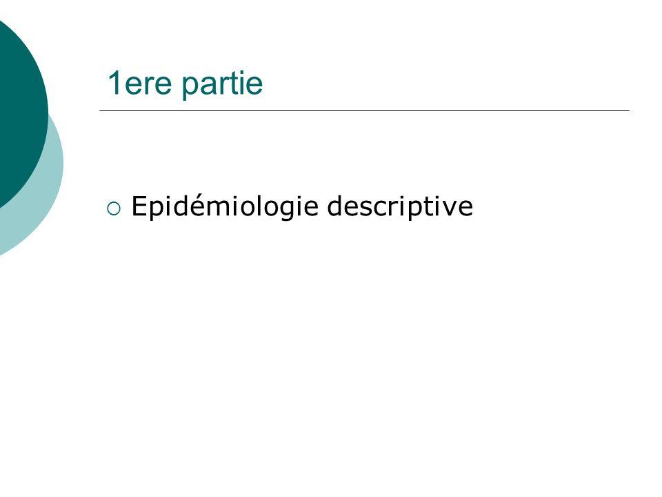 1ere partie Epidémiologie descriptive