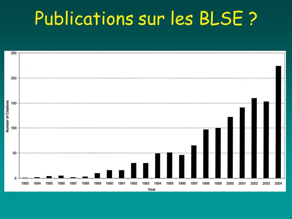 Publications sur les BLSE ?