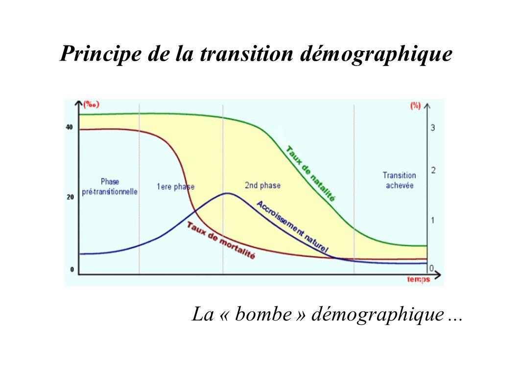 Principe de la transition démographique La « bombe » démographique...