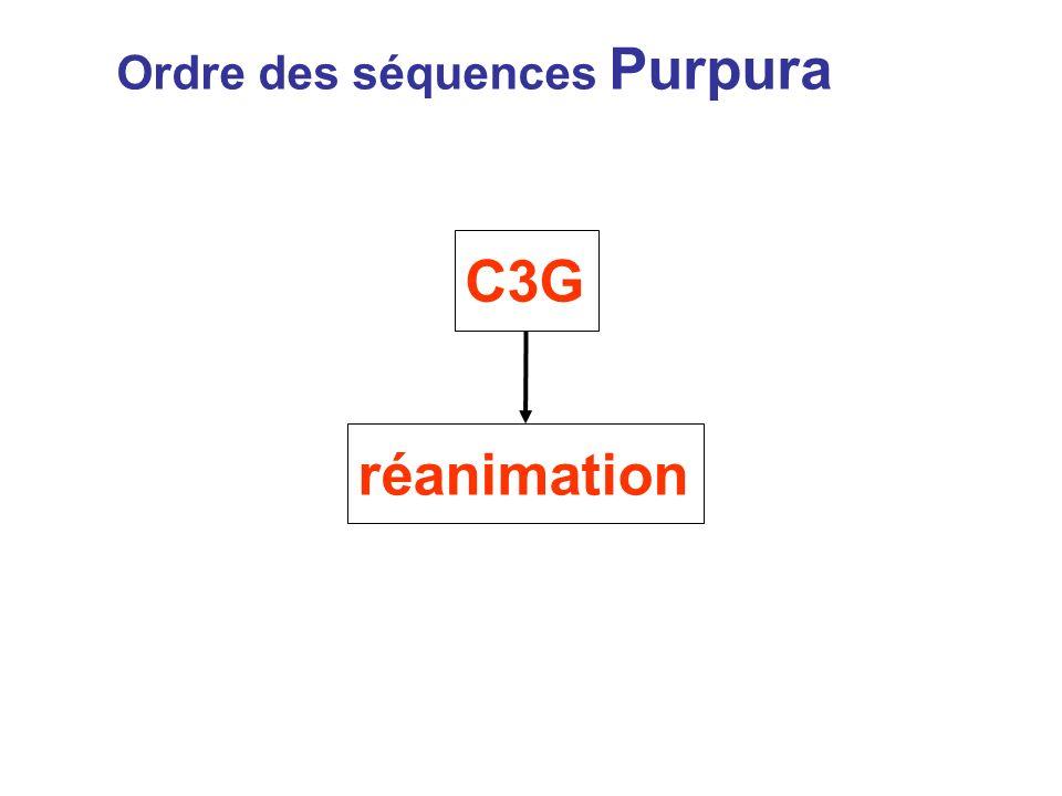 Ordre des séquences Purpura C3G réanimation