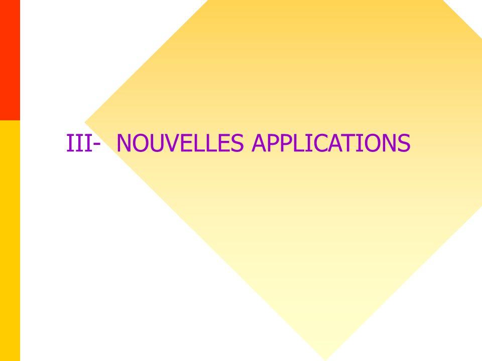 III- NOUVELLES APPLICATIONS