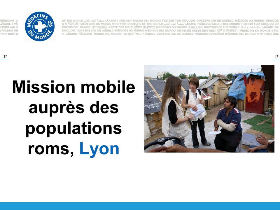 17 Mission mobile auprès des populations roms, Lyon
