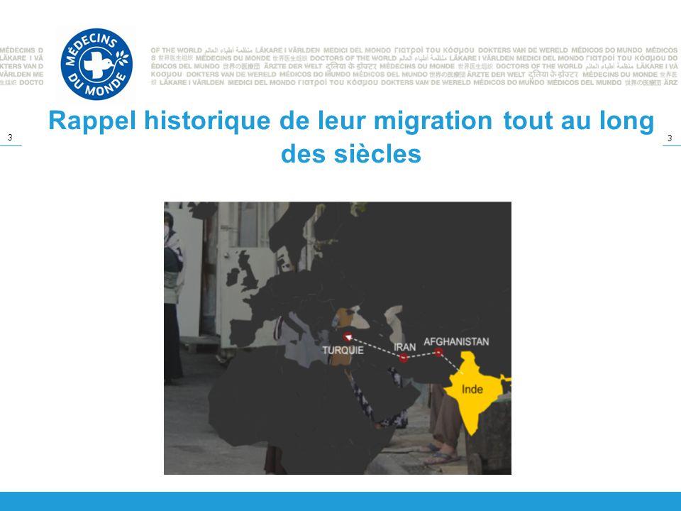 3 3 Rappel historique de leur migration tout au long des siècles