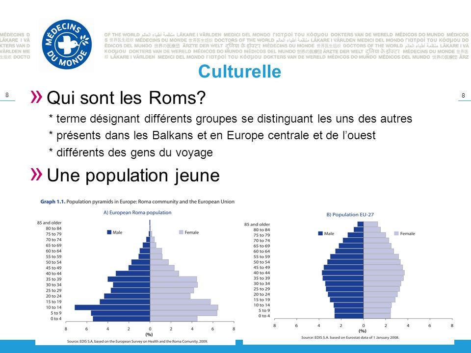 8 8 Culturelle » Qui sont les Roms? * terme désignant différents groupes se distinguant les uns des autres * présents dans les Balkans et en Europe ce