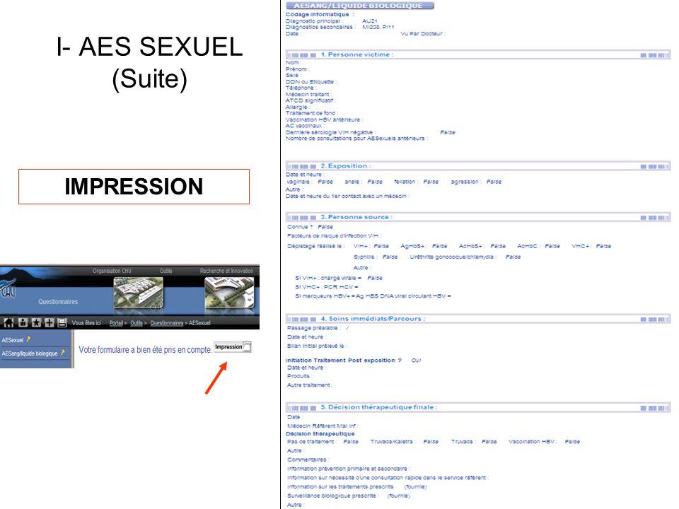 IMPRESSION I- AES SEXUEL (Suite)