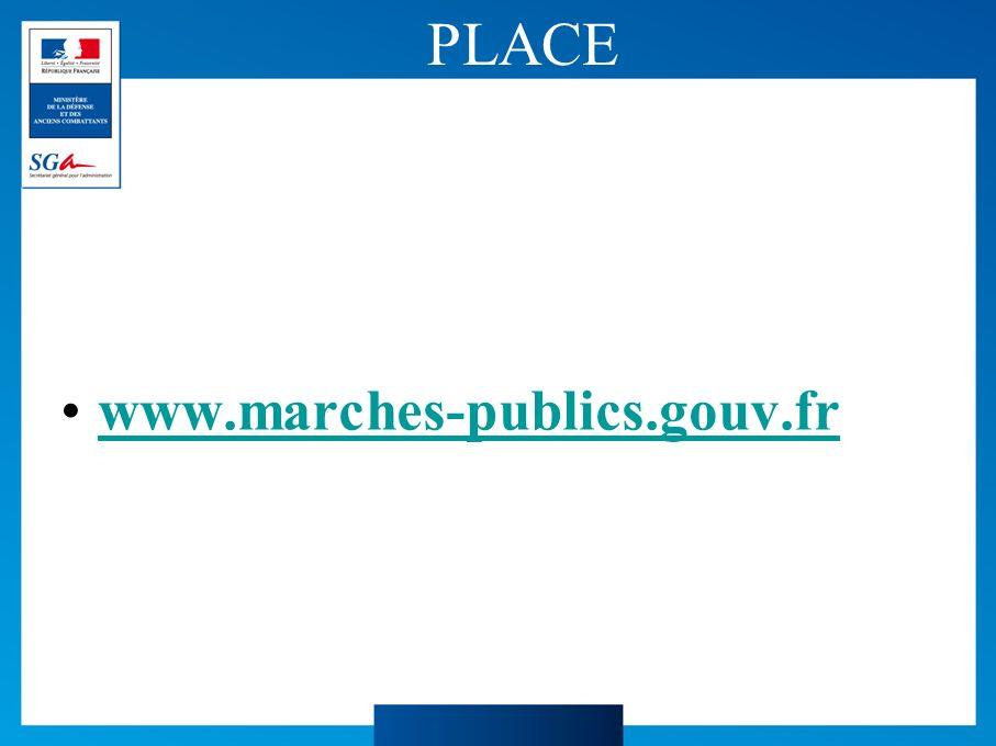 PLACE www.marches-publics.gouv.fr